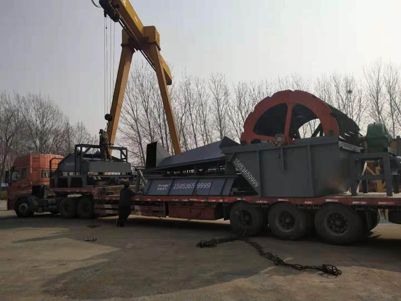 辽宁葫芦岛kehu订购de移动洗sha机械今天发货