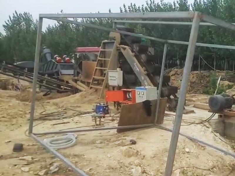 带细沙回收的挖斗洗沙ji