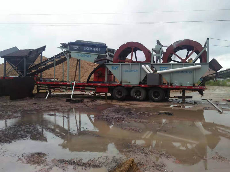 河南平顶山移动洗砂机械xian场